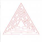Original triangle maze