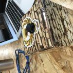 Joystick box with decoration