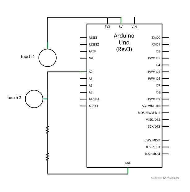 Schematic of the Arduino circuit