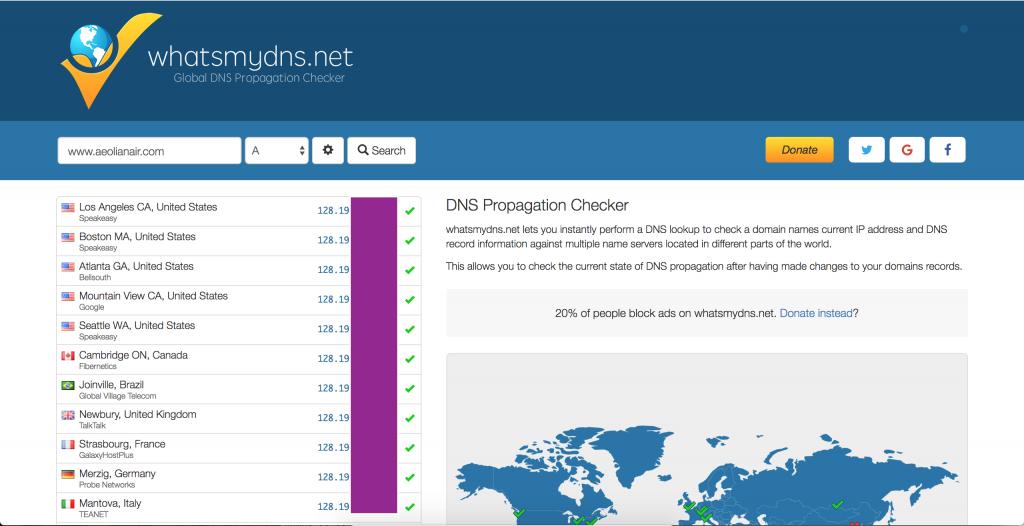 check dns propagation
