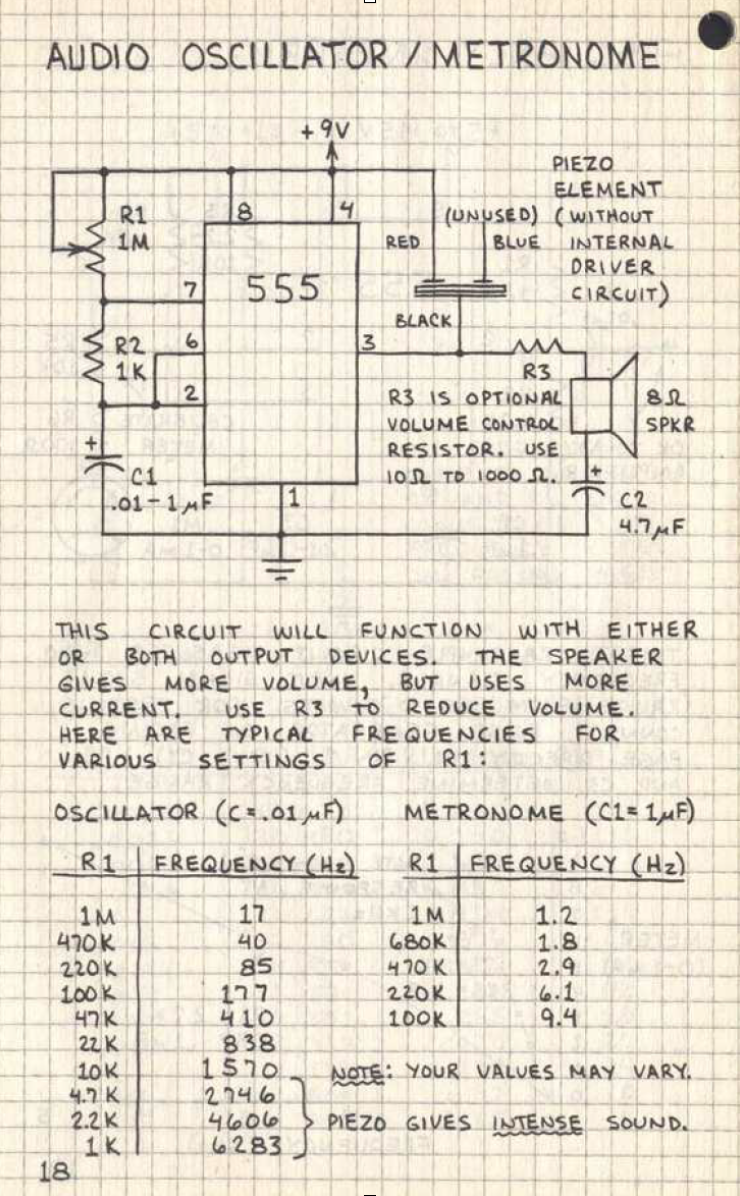 Imx Nimeweek2 555 Oscillatorcyndi Metronome Circuit There Are 8 Portals Of The Ic And Each Them Is Connected To Different Things For Instance First One Ground Third