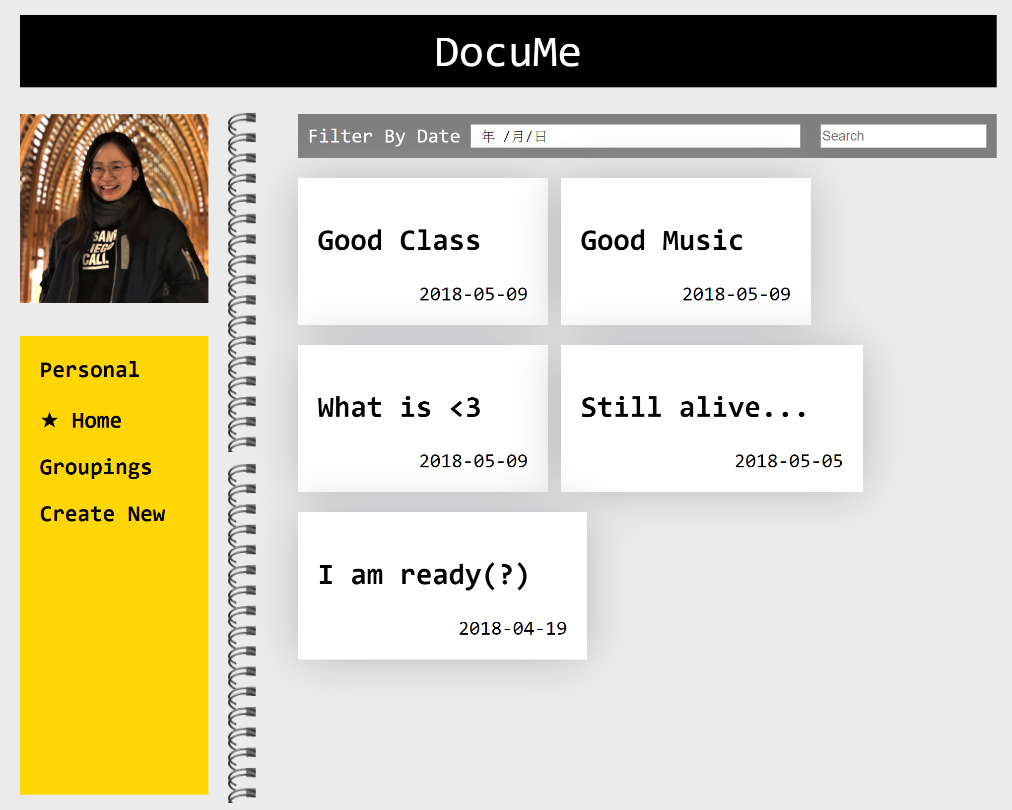 im x final project online personal diary
