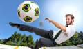 Man hitting World Cup 2014 football