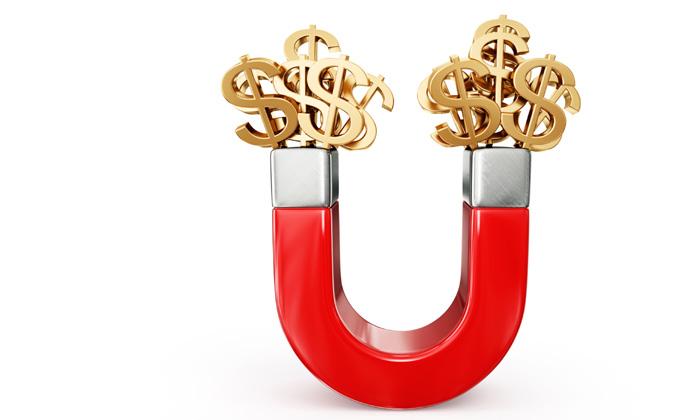 money magnet, attracting wealth