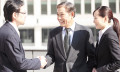 Japanese Businessmen shaking hands