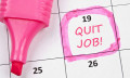 """Calendar """"I quit"""""""