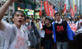 Hong Kong protests Occupy Central bank shutdown