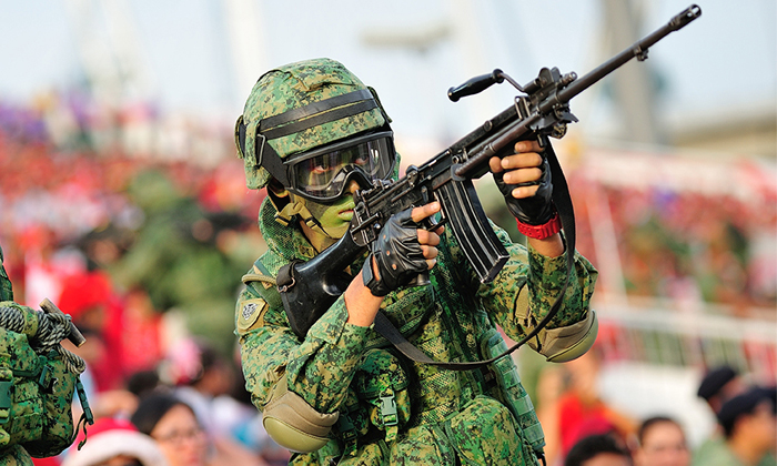 A Singaporean National Serviceman