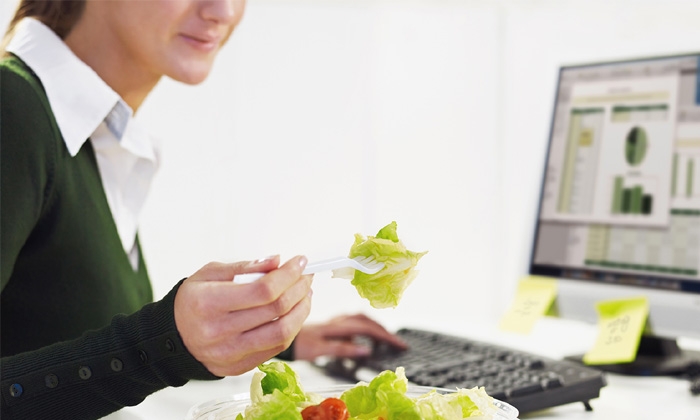 Bupa study on skipping lunch