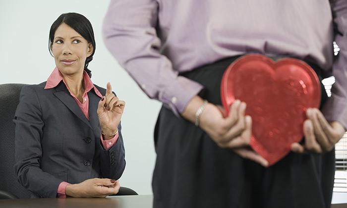 Valentine's Day heart businessman