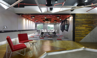 View of the reception leading to the Ogilvy boardroom