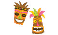 happy Tiki mask