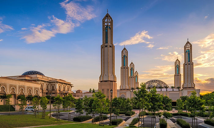 Islamic architecture in Iskandar City, Johor.