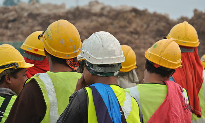 A group of construction workers in Malaysia