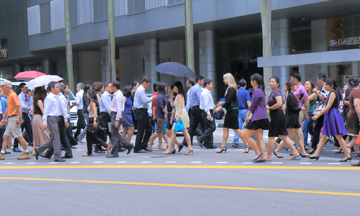 Crowd at Singapore's CBD HR
