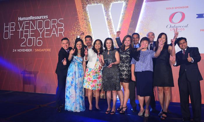 ManpowerGroup winning Overall Recruitment Firm award at #HRVOTY2016