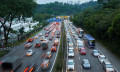 Malaysia traffic in the evening