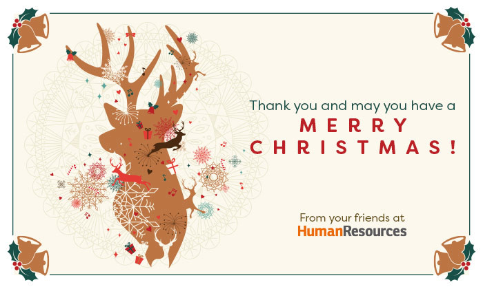 Human Resources Christmas greetings, hr