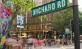 Orchard Road high-residential area in Singapore
