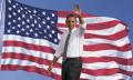 Barack Obama waving, hr