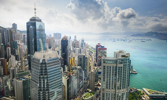 Hong Kong skyline harbour