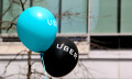 Uber logo on balloons