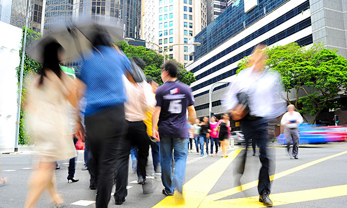 Singapore business people