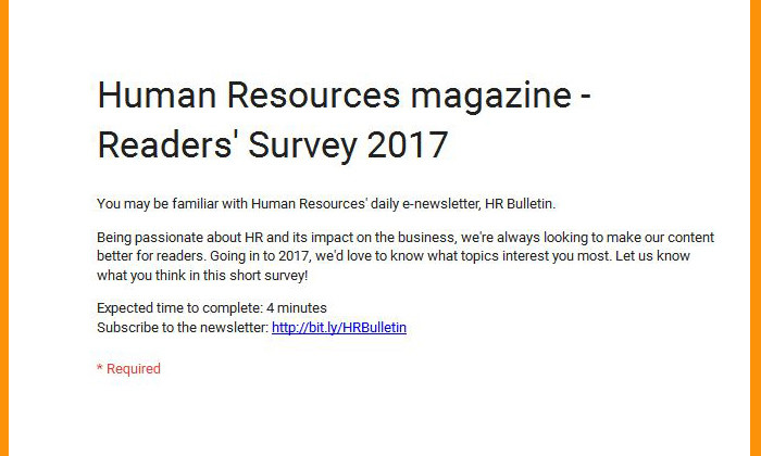 HR magazine survey
