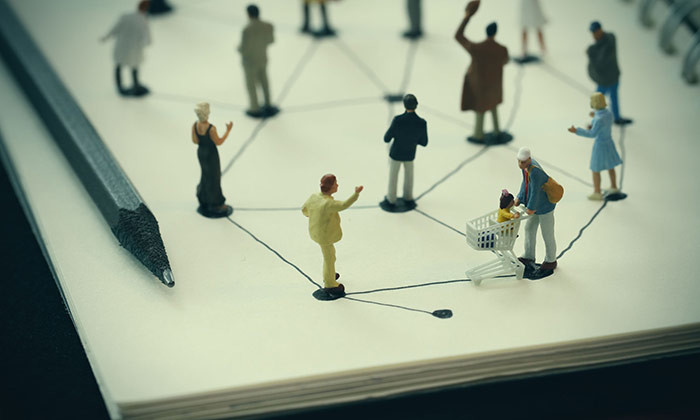 connecting people - 123RF
