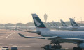 Cathay Pacific planes at HK airport, hr
