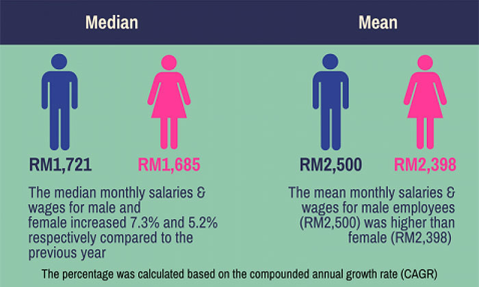 DOSM gender pay difference