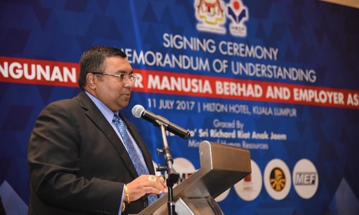 Dato' CM Vignaesvaran, Chief Executive of HRDF