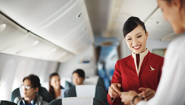 Cathay Pacific flight attendant, hr