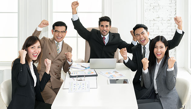 happy Asian business people - iStock