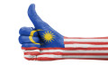 Malaysian flag thumbs up