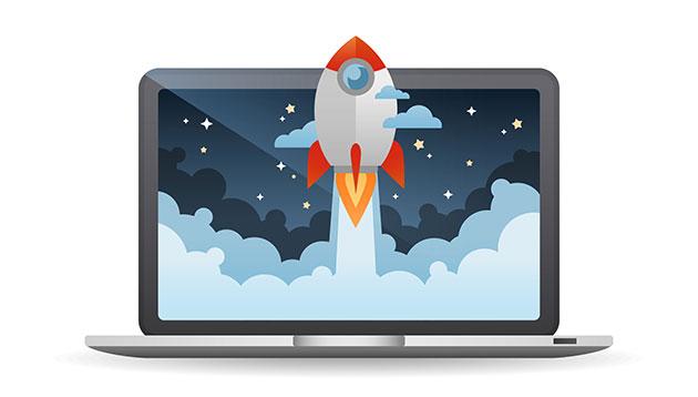 website launch - 123RF