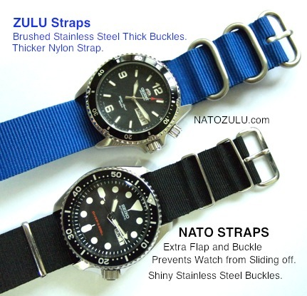 NATO and ZULU Strap Difference