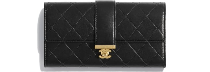 flap-wallet-black-shiny-lambskin-gold-tone-metal-packshot-default-a81456y3339494305-8807090815006