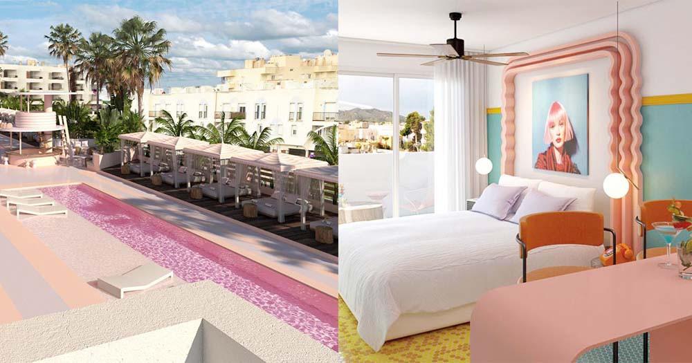 被粉紅色包圍吧!西班牙藝術酒店連泳池都是粉紅色,太犯規了!