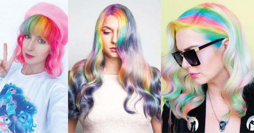 彩虹色瀏海可能不適合每個人,但看起來肯定很酷!