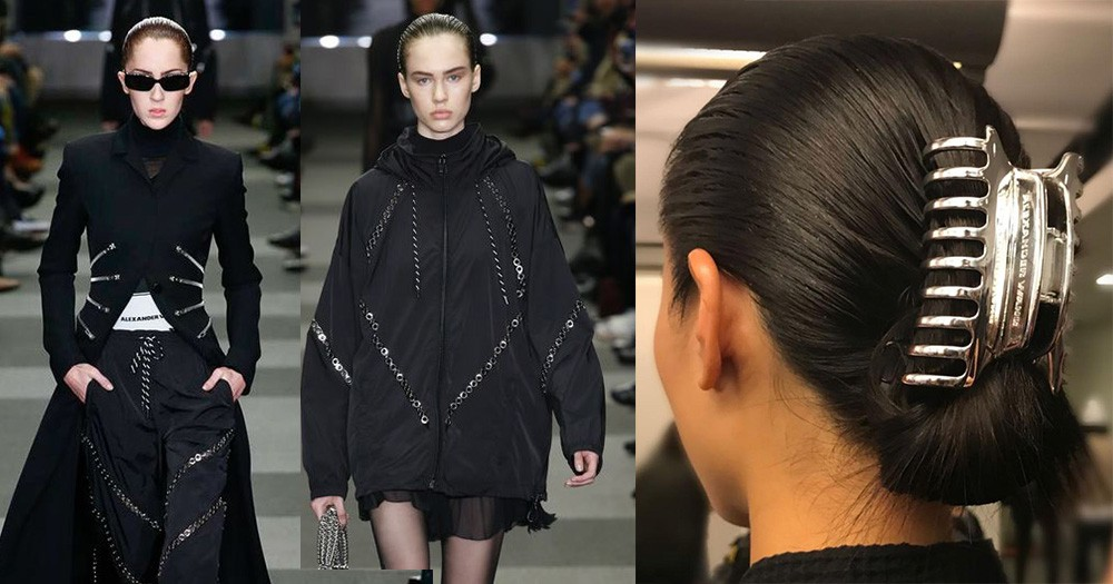 Alexander Wang最後一場紐約時裝秀,把80年代的「大爪髮夾」帶上天橋!