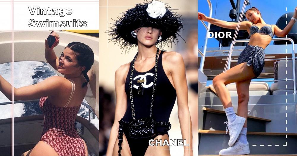 復古單品風靡歐美時尚界:Bella、Kylie 和 Kim 都愛穿復古名牌泳衣!
