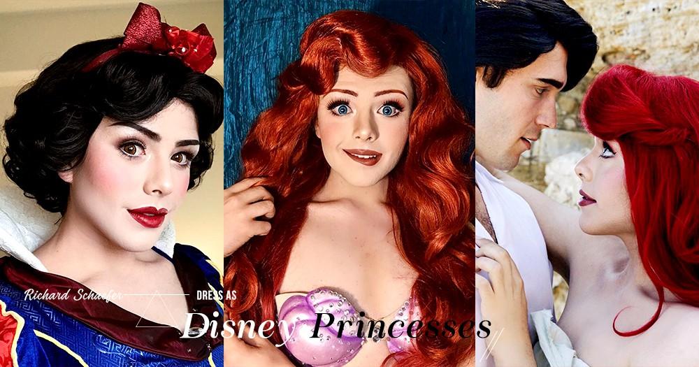 這位笑得這麼甜美、擁有美麗輪廓的迪士尼公主,竟然是個男生!
