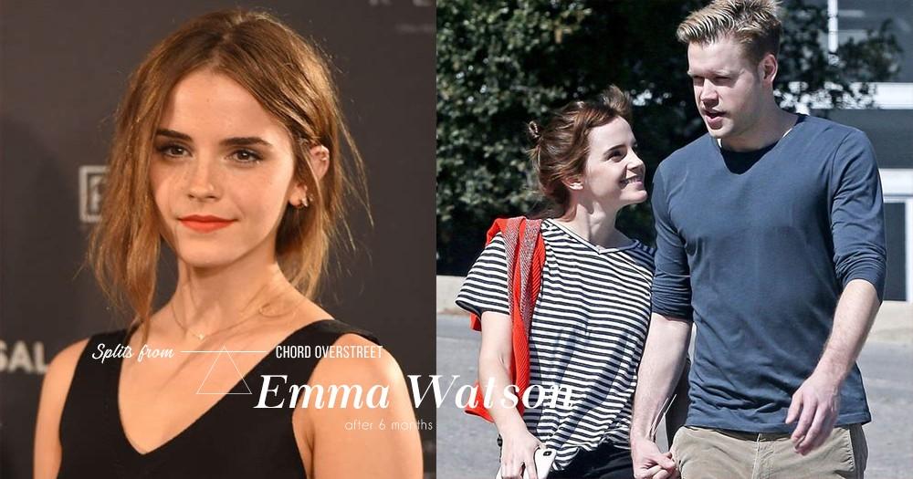 「別把時間浪費在錯的人身上」Emma Watson與交往6個月的男友Chord Overstreet分手!
