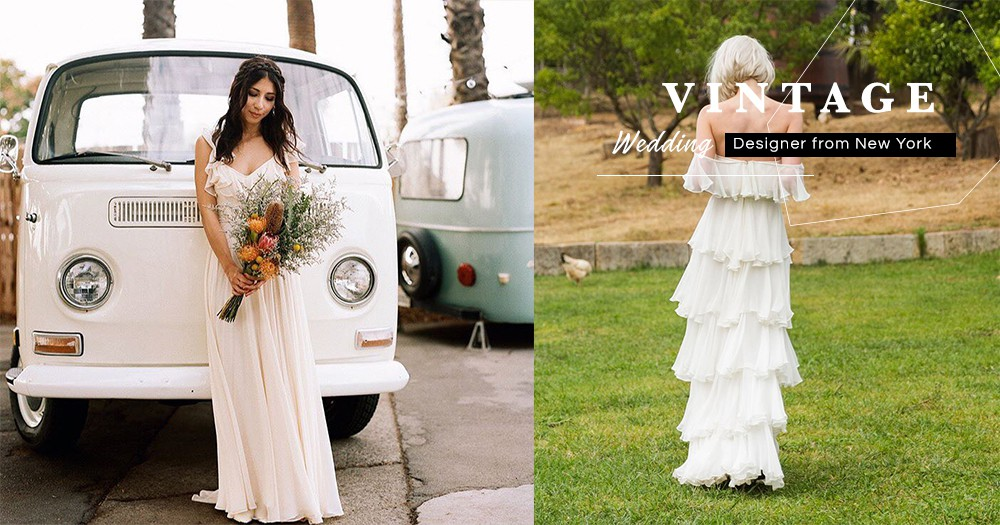 專門改良古著婚紗的紐約設計師:古著婚紗簡約相宜,儘管10年後都能拿出來回味當時