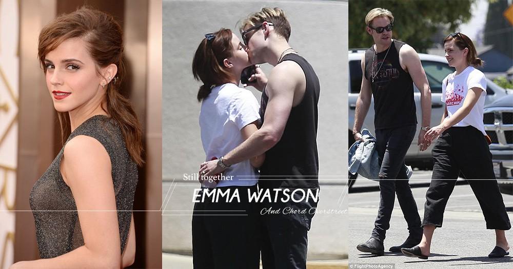 粉碎分手傳聞!Emma Watson與Chord Overstreet於洛杉磯街頭擁吻,向外界證明情不變!