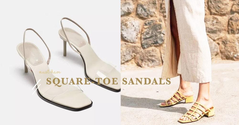 如果今夏只能穿一對涼鞋:就選這一對方頭涼鞋,百搭時尚又舒適!
