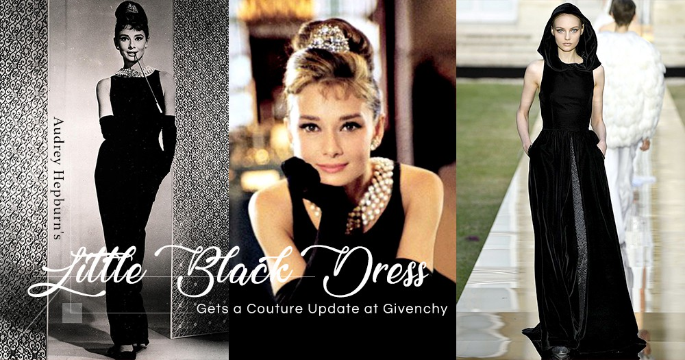 Givenchy 秋季高級定制時裝秀:把 Audrey Hepburn 的經典小黑裙設計重現!