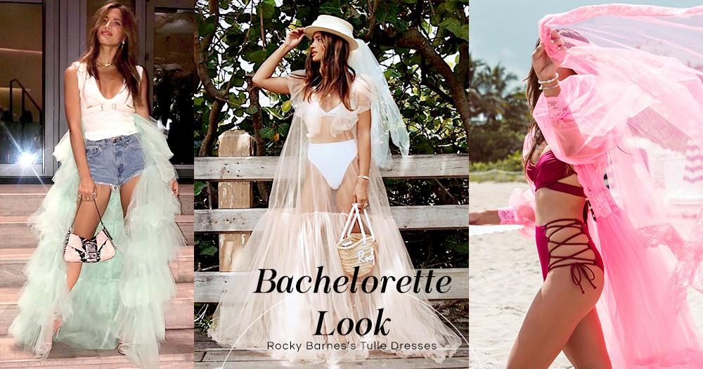 在單身派對上化身VS天使:時尚達人摒棄新娘白T恤,潮著紗裙告別單身!