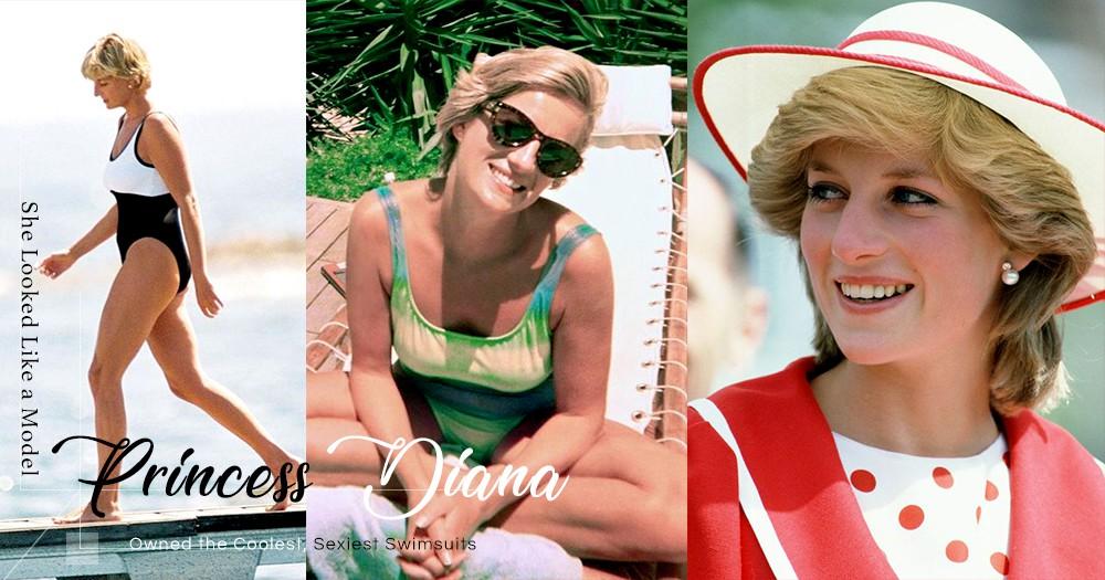 「她看起來就像一個模特!」美麗華服背後,戴安娜王妃擁有最酷最性感的泳裝!